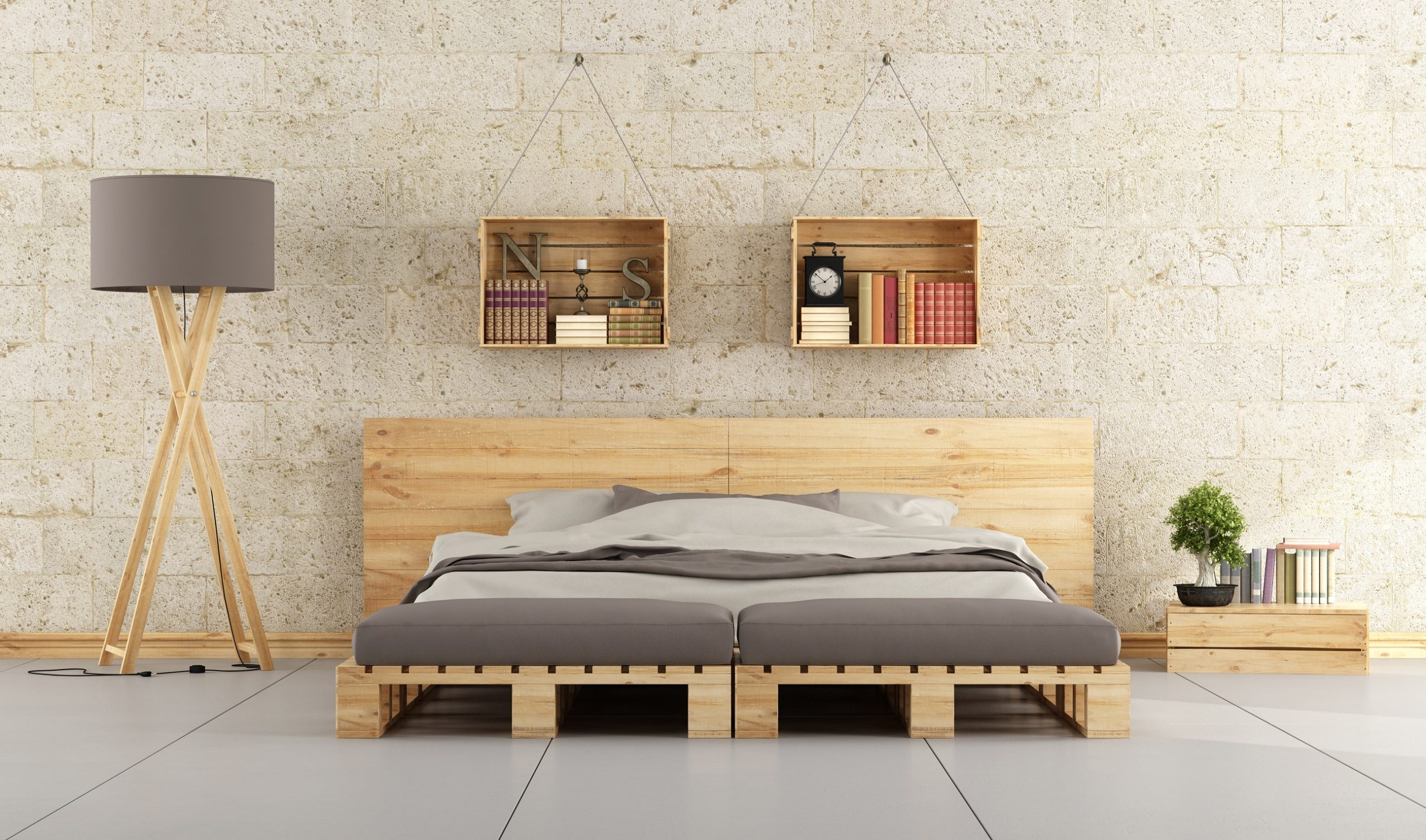 bed made out of pallet